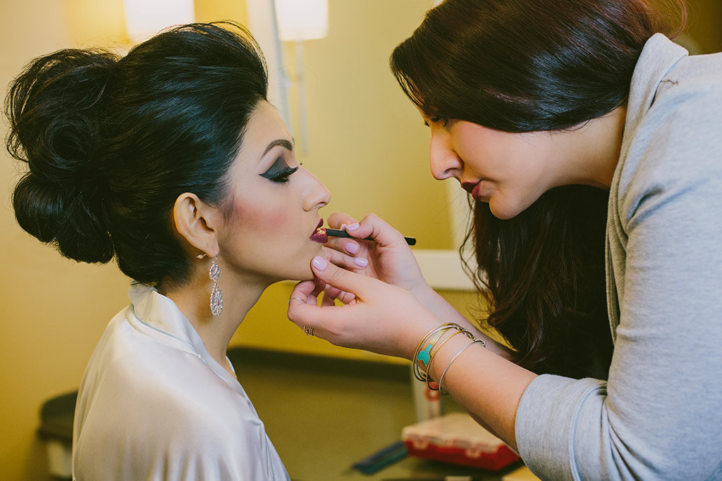 Bridal Makeup Application on-site by Charles Penzone Bridal